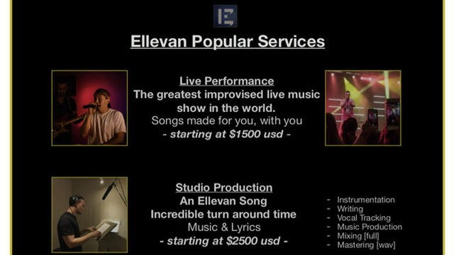 Want to Book Ellevan? [Live Show, Song For Hire, Film Project]
